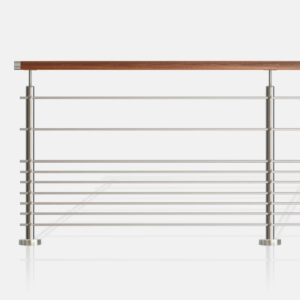 garde corps 9 lisses tubes ronds barreaudage horizontal. Black Bedroom Furniture Sets. Home Design Ideas
