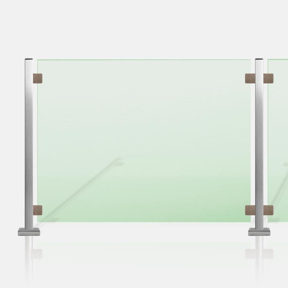 Kit garde corps en verre, rambarde et balustrade verre - INOXKIT ®