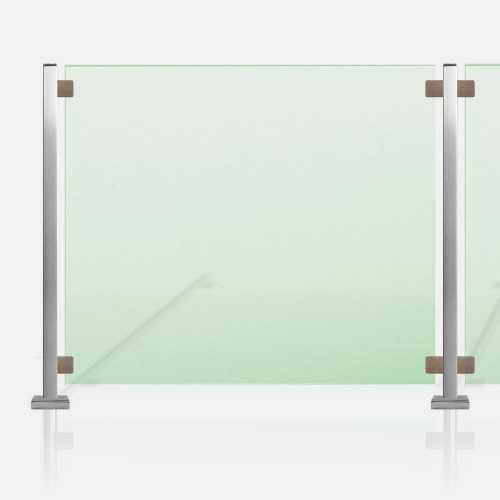 Clôture piscine inox et verre sans main courante tube carré