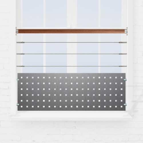 Kit garde-corps fenêtre câbles inox et tôle