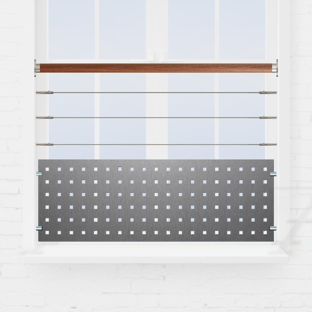 kit rambarde fen tre 3 c bles et t le perfor e. Black Bedroom Furniture Sets. Home Design Ideas