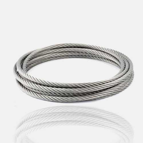 Câble inox 4mm au mètre, fil, corde, filin, corde, cordage inox.