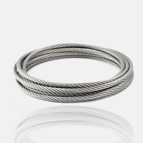 Bobine 100 m de câble inox 4mm corde, cordage inox, fil, filin, rouleau, bobine inox, touret 100m.