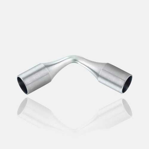 Raccord de lisses inox orientable à cintrer plier, prolongateur, coude orientable, angles de lisses, à plier