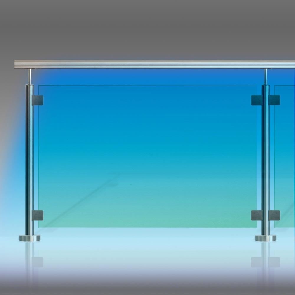kit garde corps inox verre et leds. Black Bedroom Furniture Sets. Home Design Ideas