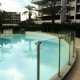 Barrière sécurité piscine verre sans main courante inox