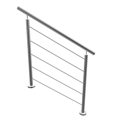Kit rambarde escalier lisses for Normes garde corps fenetre