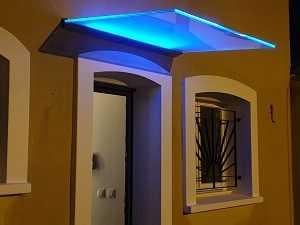 Marquise en verre avec LED