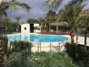 Barrière piscine inox et verre