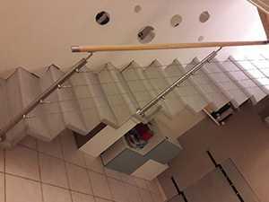 Garde-corps d'escalier en intérieur
