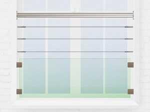 Garde-corps fenêtre câble et verre