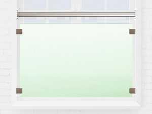 Garde-corps fenêtre en verre