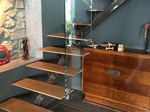 Garde-corps verre en escalier