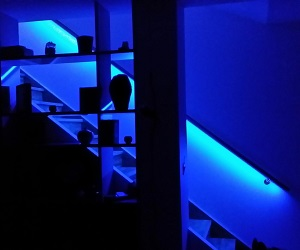 Rampe escalier murale avec LED