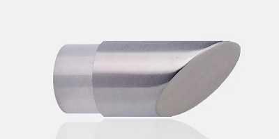 sourcing map 24Pcs 63mm Dia Bouchon tube plastique Rond main courante garde-corps escalier