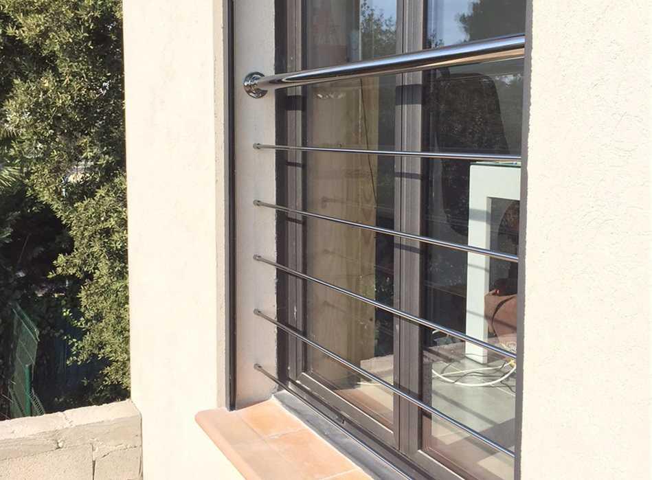 Garde-corps fenêtre moderne