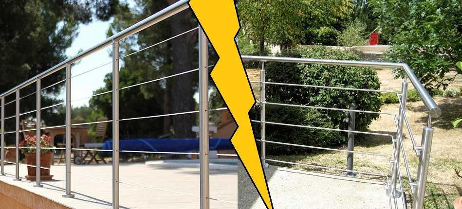 Garde-corps à câble VS garde-corps à lisses