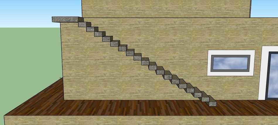 Croquis pour prise de cotes escalier