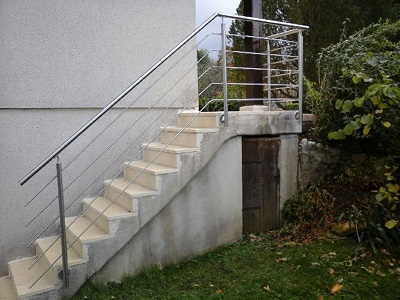 Rambarde en escalier extérieur