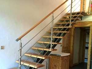 Rambarde d'escalier en intérieur