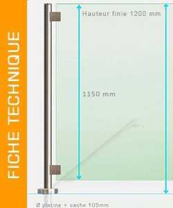 Fiche technique clôture piscine verre