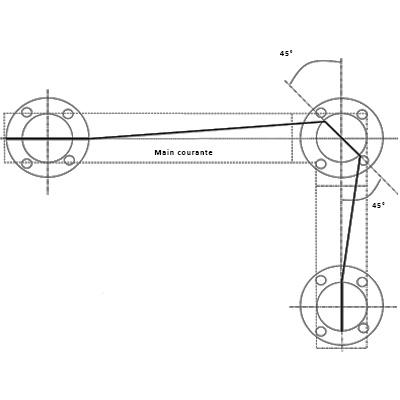 Réalisation d'un angle pour un garde-corps câble