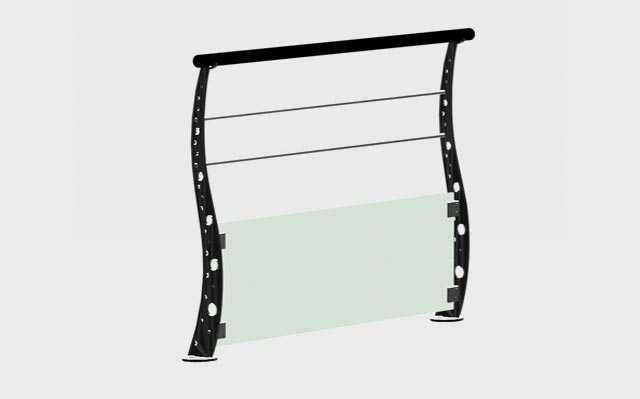 Robuste et Durable Escalier de Haute pr/écision Balustrade de Piscine ext/érieure Embouts en Verre en Acier Inoxydable de Haute qualit/é XiangXin Pince de Garde-Corps