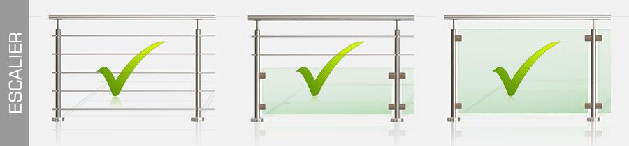 Quelles sont les normes garde corps hauteur et r glementation inoxkit - Norme main courante escalier ...