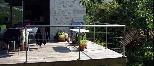 Garde-corps terrasse cable