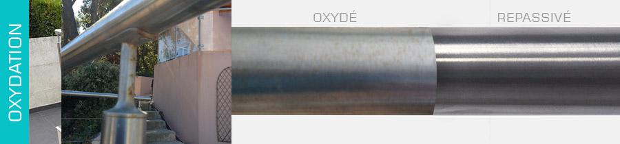 Oxydation de l'inox