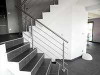 Garde corps escalier en intérieur