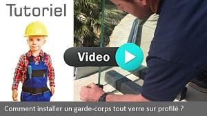 Vignette installation garde-corps tout verre sur porfilé