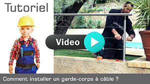 Vignette intallation garde-corps à câble